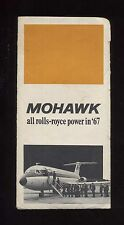 MOHAWK airlines US airways TICKET JACKET 1967 route map bac one eleven Royce aa