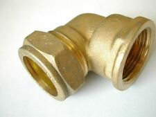 """22mm Compression x 3/4"""" BSP Female Iron Elbow 