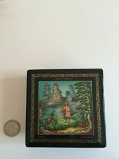 AUTHENTIC Emelya and the Magic Pike Russian Lacquer Box LARGE