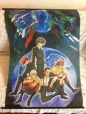 Gundam Wing Vintage Rare Hanging Cloth Poster