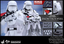 Sideshow Hot Toys STAR WARS FIRST ORDER SNOWTROOPERS SET OF 2 1/6 Scale Figures