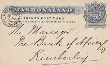 RHODESIA:1893 ONE PENNY ARMS POSTAL CARD  H &G 5 used -UMTALI