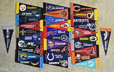 Complete Set of (32) NFL FOOTBALL Felt Mini PENNANTS New