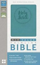 NIV, Value Thinline Bible, Imitation Leather, Blue by Zondervan (2016,...