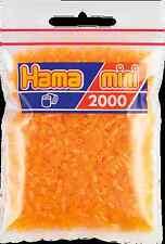Pack of 2000 Hama MINI Beads - Neon Orange (501-38)