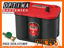 OPTIMA 34 RED TOP||SPIRAL CELL||STREET CARS||AGM||SUVs||4X4|STARTING BATTERY|