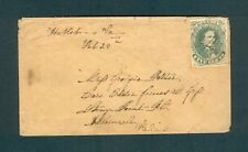 "SCARCE #1 Confederate ""Hallsboro Va. Feb 28th"" to Elder James Goss, Stony Point"