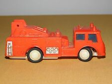 """VINTAGE TOY 5"""" LONG DURHAM INDUSTRIES  WIND UP PLASTIC FIRE TRUCK"""