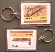 1953 Union Pacific (UP) Gas Turbine Train Stamp Keyring (Loco 100)