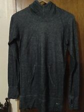 Nike Women's Gray Hoodie Long Sleeve Gray Top Shirt Size Small 4-6 Gloved