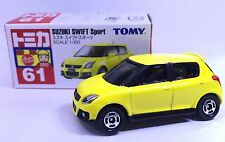 JAPAN TOMY TOMICA NO 61 SUZUKI SWIFT SPORT 1/60 DIECAST CAR YELLOW RARE 2007