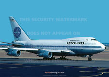 PAN AM BOEING 747-SP A3 COLOUR POSTER PRINT PICTURE PHOTO IMAGE