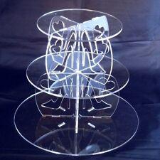 Tres Niveles Tacón Alto y Diseño De Corazón Redondo Soporte Tarta - Transparente