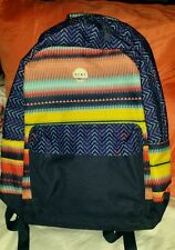 📚🌺NEW ROXY BY QUIKSILVER GIRL'S WOMEN'S  LAPTOP BOOKBAG BACKPACK MULTI-COLOR