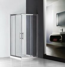 900x900mm sliding shower enclosure double door corner entry cubicle+Stone Tray