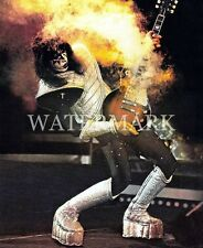 Ace Frehley Smoking Guitar 8x10 Color Photo KISS Rock n Roll Music