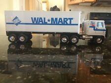 "Vintage 21"" Nylint Wal Mart Sams Club Steel / Plastic Toy Semi Truck and Trailer"