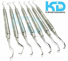 Set of 7 Periodontal Gracey curette Periodoncia Dental instruments Cure Cureta