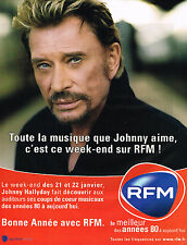 "PUBLICITE ADVERTISING 045  2005  RFM radio  JOHNNY HALLYDAY "" toute la musique"""