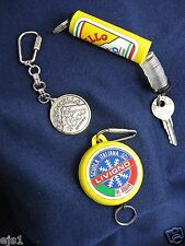3 Vintage Keychains Livigno, Italy/Carosello 3000 Ski Resort/Super-G Blesaccia