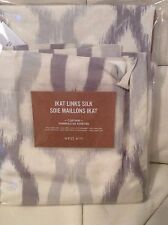 West Elm Ikat Links Silk Drape Panel 48X63L Platinum Grey NWT
