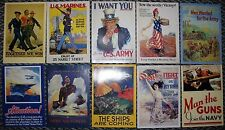 Patriotic Military WWII Slogans  Recruiting Poster Like American Legion 10 Cards
