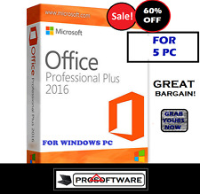 Microsoft OFFICE PROFESSIONAL PLUS 2016 PRO PLUS codice licenza per il download 5pz