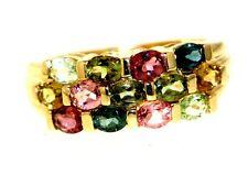 Gioielli anello di caccia 585 Oro Multi TORMALINA sogni d'oro ricco di sfaccettature