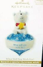 HALLMARK  2010 WHAT WILL YOU WISH FOR Recordable Ornament NEW