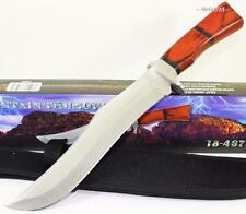 Frost Cutlery Gaint Mountain Man Thunder Bowie Hunting Skinning Knife + Sheath