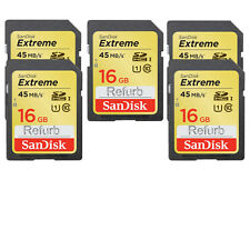 5 Pack Sandisk 16gb Extreme SDHC 45mb/s Class 10 SDSDX-016G U1 Flash Memory Card