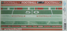 ~FOOTBALL~ Photo Banner Ribbon Border Stickers CLOUD 9 DESIGN; field game words
