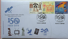 Malaysia FDC with stamps (17.05.2015) - 150th Anniversary of ITU