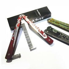 Red Practice BALISONG Metal Butterfly Scorpion Trainer Outdoor Sport Comb Gift