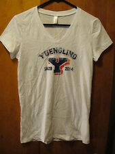 YUENGLING 1829-2014 Sports Style Beer PROMO V Neck T Shirt Ladie's Medium White
