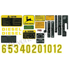 AR52393 New John Deere Tractor Hood Decal Set 2510 2520 3010 3020 4000 4010 +