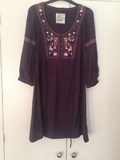 Fat face Small Purple Lilac Medieval Viking Style Dress Short Long Sleeves SALE