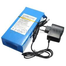 Portable Super Rechargeable Li-ion Battery DC 12V 15000mAh Pack w/ Charger Plug