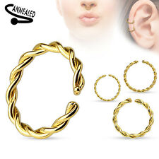 Nose Lip Ear Cartilage Daith Rook Lobe Septum Rings - Annealed - Sold Each