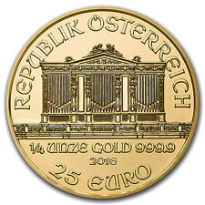 25 euro or Autriche 1/4 once or Vienna Philharmonic Gold coin 1/4 oz