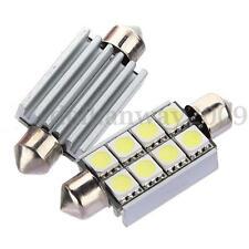 2X 42mm 8 SMD 5050 LED White Canbus Number Plate Light c5w Festoon Dome Bulb 12V