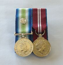 Falklands South Atlantic, Diamond Jubilee, Court Mounted Miniature Medals, Mini