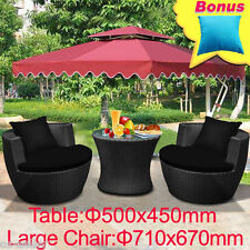 New Wicker Rattan Garden Set Indoor Outdoor Sofa Setting Furniture