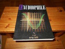 Revue L'AUDIOPHILE première   série N=° 22 - Editions FREQUENCES