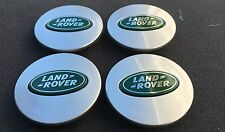 NEW SET OF 4 LAND RANGE ROVER GRAY & DARK GREEN CENTER WHEEL EMBLEM BADGE HUB