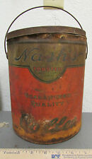 Vintage Nash's toasted coffee 5 gallon tin, great hard to find collectible item
