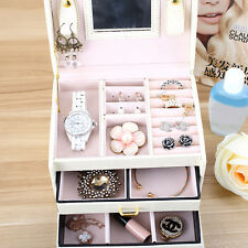 Jewelry Ring Bracelet Earrings Studs Storage Container Organizer Box Case Holder