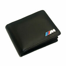 NEW BMW M Leather Wallet Car Licence Bag M power Performance Emblem For Men