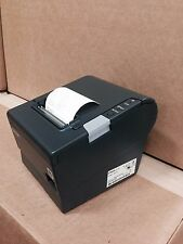 Epson TM-T88V M244A Ethernet/USB Thermal Printer w/Power Supply Charcoal Color