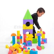 48pcs Colorful Soft EVA Foam Building Blocks Bricks Set Children Kids Play Toys
